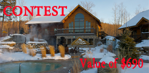 Winter in Quebec's contest in collaboration with Chalet Natur'Eau in Lanaudiere Region and Global Reservation