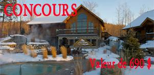 Concours du Québec en Hiver 2017-2018 en collaboration avec Chalet Natur'Eau dans la région de Lanaudière et Global Réservation