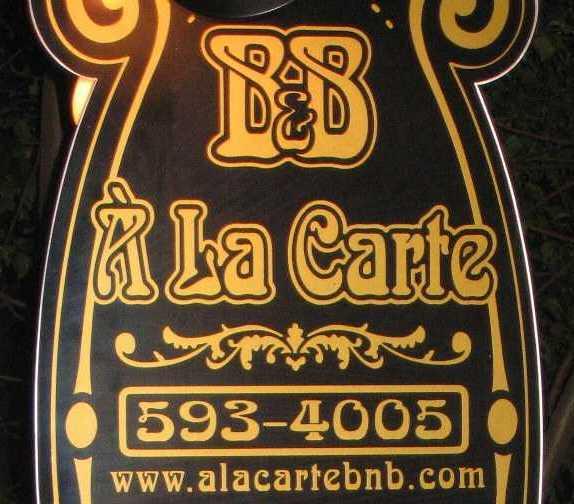 Logo À la Carte B&B